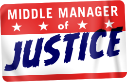 Middle Manager of Justice Logo